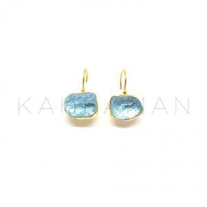 Χρυσά σκουλαρίκια με τοπάζ BD0018