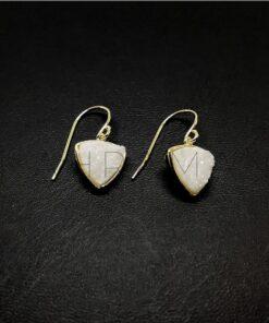 Ασημένια σκουλαρίκια επίχρυσα BD0029