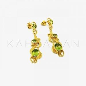 Ασημένια σκουλαρίκια με περίδοτο BD0030