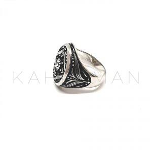 Ανδρικό ασημένιο δαχτυλίδι BA0105