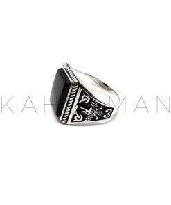 Ανδρικό δαχτυλίδι από ασήμι BA0112
