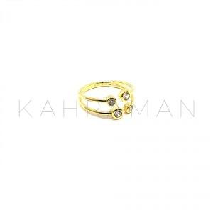 Ασημένιο δαχτυλίδι επίχρυσο BA0118