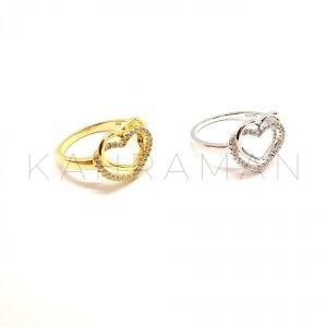 Ασημένιο δαχτυλίδι επίχρυσο BA0119