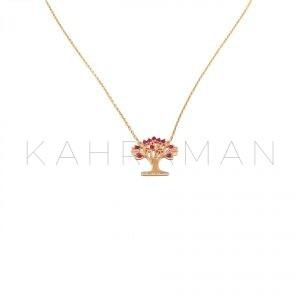 Ασημένιο κολιέ ροζ χρυσό BC0115