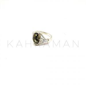 Δαχτυλίδι πράσινο κεχριμπάρι BA0125