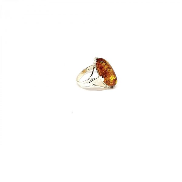 Δαχτυλίδι με ατόφιο κεχριμπάρι BA0126
