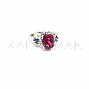 Λευκόχρυσο δαχτυλίδι με διαμάντια BA0127