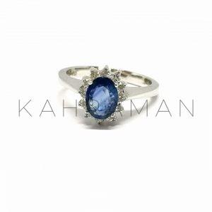 Λευκόχρυσο δαχτυλίδι με διαμάντια BA0128