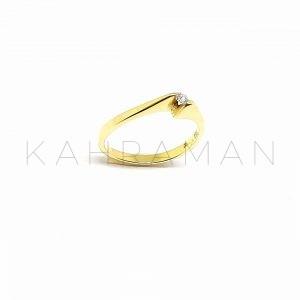 Χρυσό δαχτυλίδι με διαμάντι BA0129