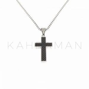 Ανδρικός σταυρός από ατσάλι BF0022