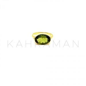 Χρυσό δαχτυλίδι με περίδοτο BA0133