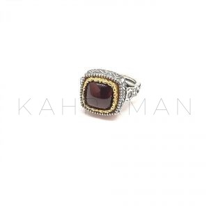 Χειροποίητο δαχτυλίδι ασήμι με γρανάτη BA0134