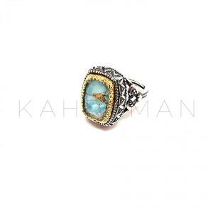 Χειροποίητο δαχτυλίδι ασήμι με τιρκουάζ BA0135