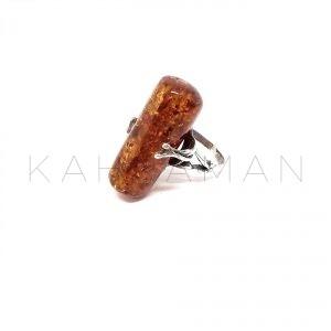 Χειροποίητο δαχτυλίδι με κεχριμπάρι BA0138