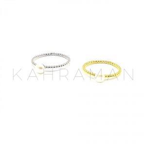 Ασημένιο δαχτυλίδι με μαργαριτάρι BA0140