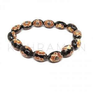Χειροποίητο βραχιόλι μαύρο κοράλλι BB0246