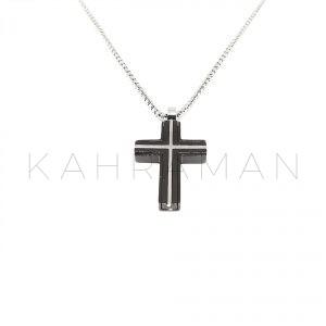 Ανδρικός σταυρός από ατσάλι BF0023