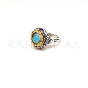 Χειροποίητο ασημένιο δαχτυλίδι BA0142