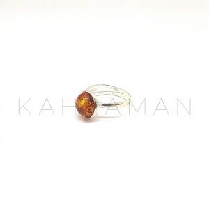Ασημένιο δαχτυλίδι με κεχριμπάρι BA0145