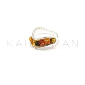 Ασημένιο δαχτυλίδι με κεχριμπάρι